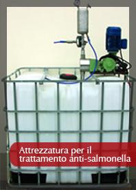 Attrezzatura per trattamenti anti-salmonella