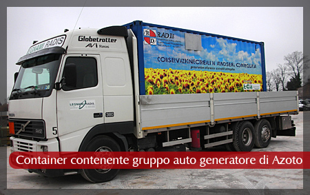 Container contenente gruppo auto generatore di Azoto