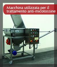 Macchina utilizzata per il trattamento anti-micotossine