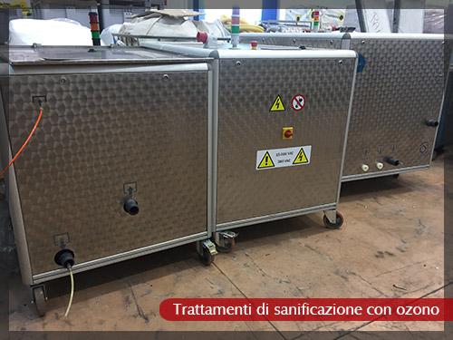 Trattamenti di sanificazione con ozono